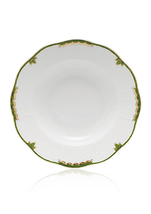 Herend Dark Green Rim Soup Plate