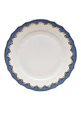 Fishscale Blue Dinner Plate