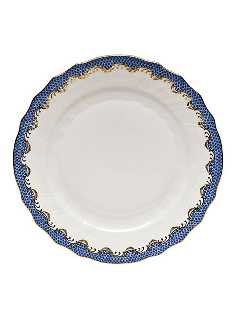 Fishscale Blue Dinner Plate