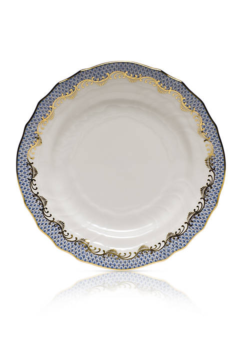 Fish Scale Light Blue Bread & Butter Plate