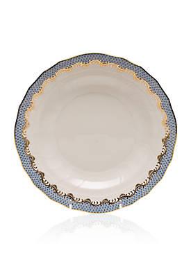 Fish Scale Light Blue Dessert Plate