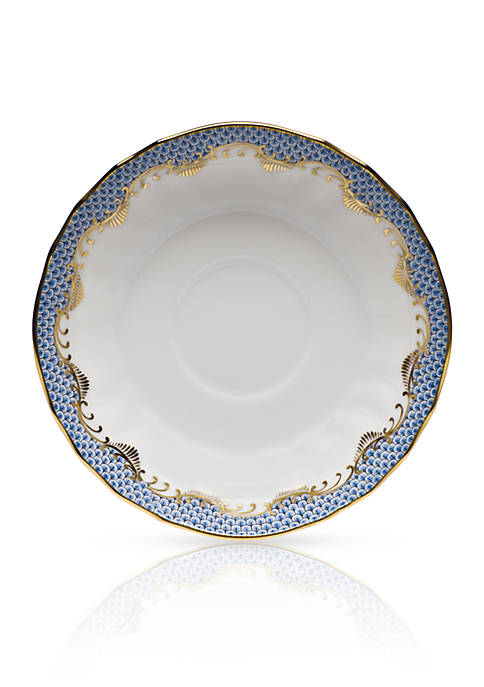 Herend Fishscale Light Blue Saucer