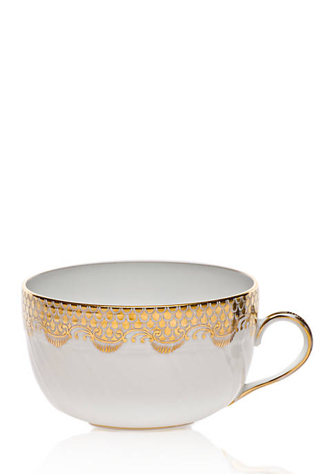 Herend Fish Scale Gold Canton Cup 6-oz.