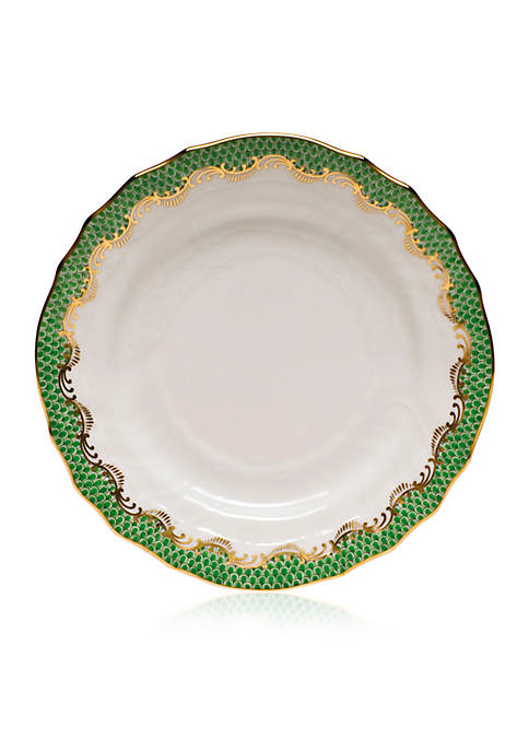 Herend Fish Scale Jade Bread & Butter Plate