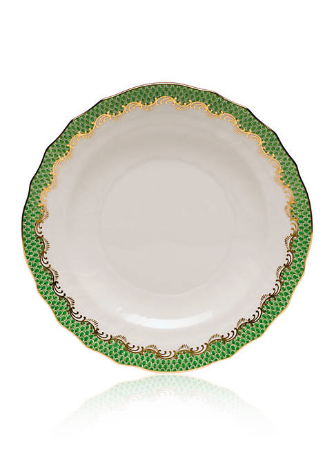 Herend Fish Scale Jade Salad Plate 7.5-in. D