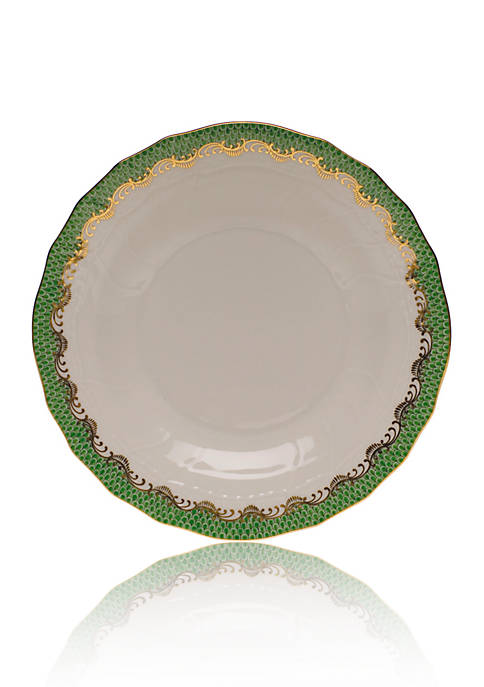 Fish Scale Jade Dessert Plate 8.25-in. D.
