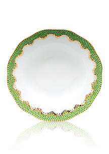Fish Scale Evergreen Rim Soup Plate