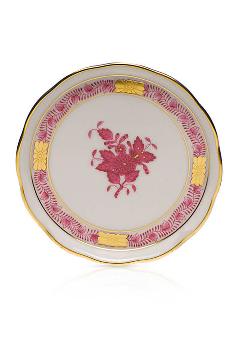 Herend 4-in. Raspberry Chinese Bouquet Coaster