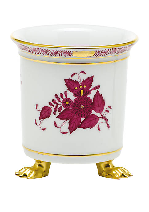 Chinese Bouquet Raspberry Mini Cachepot with Feet