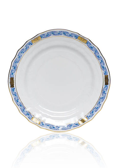 Chinese Boutique Garland Blue Bread & Butter Plate 6-in.