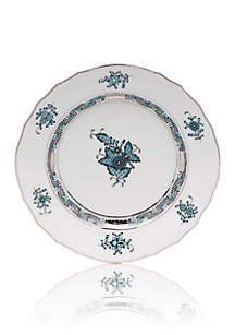 Chinese Bouquet Dinnerware - Turquoise & Platinum