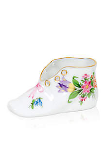 Herend Baby Shoe - Multi Floral