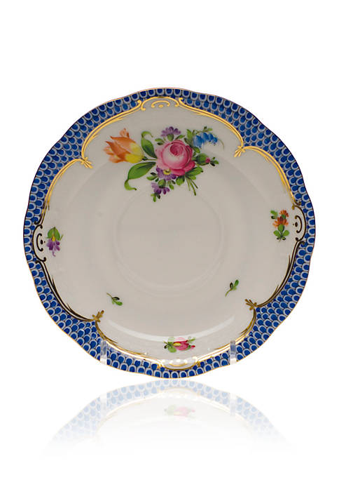 Herend Printemps Blue Border Saucer