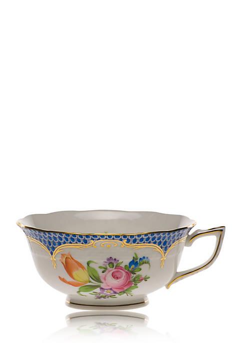 Herend Printemps Blue Border Tea Cup
