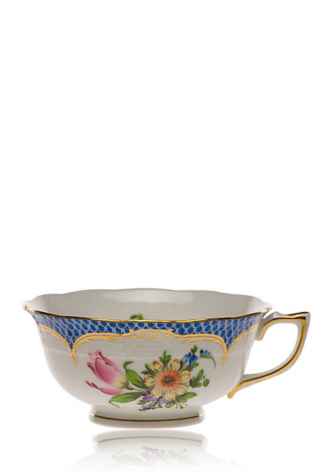 Herend Printemps Blue Border Tea Cup