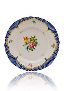 Herend Printemps Blue Border Bread & Butter Plate Motif #1
