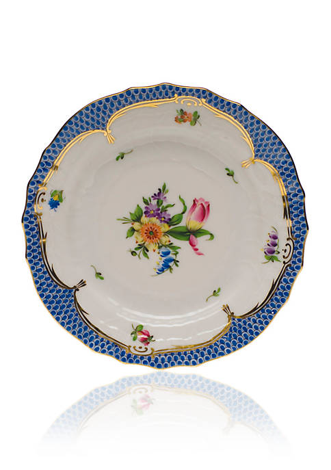 Herend Printemps Blue Border Bread & Butter Plate