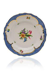 Herend Printemps Blue Border Bread & Butter Plate Motif #3