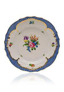 Herend Printemps Blue Border Bread & Butter Plate Motif #4