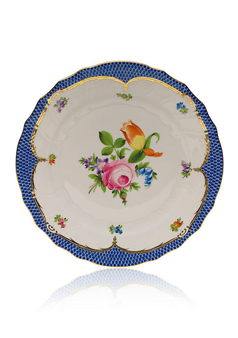 Herend Printemps Blue Border Salad Plate