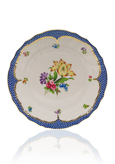 Herend Printemps Blue Border Plate