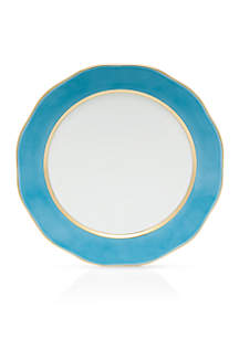 Silk Ribbon Turquoise Charger 12-in.