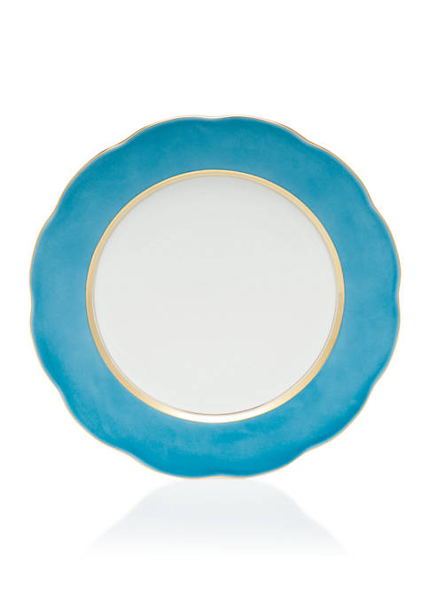 Herend Silk Ribbon Turquoise Service Plate 11-in.