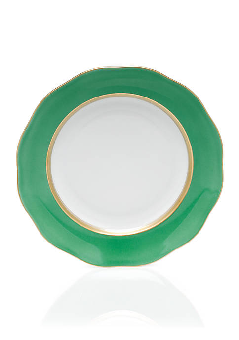 Herend Silk Ribbon Lime Dessert Plate 8.25-in.