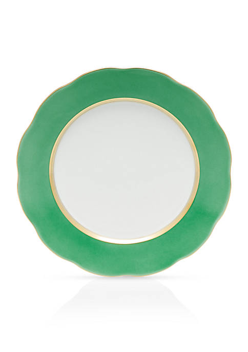 Herend Silk Ribbon Lime Service Plate 11-in.