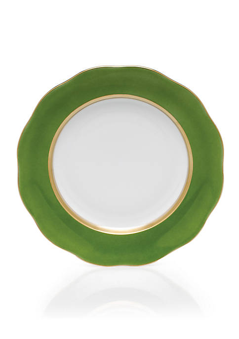 Herend Silk Ribbon Fern Dessert Plate 8.25-in.