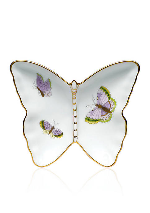 Herend 4.25-in. x 1-in. Butterfly Pin Dish
