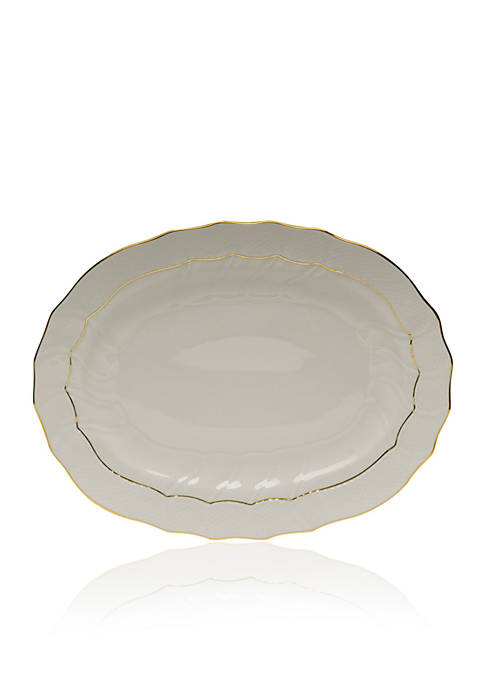 Herend Golden Edge Oval Platter