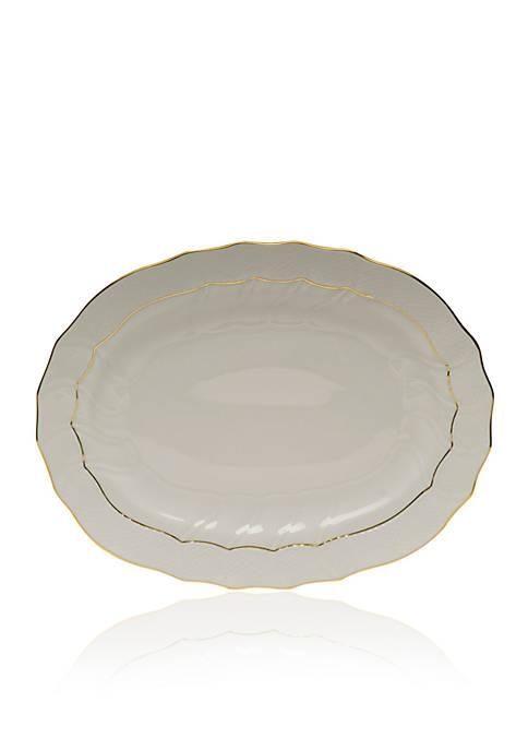 Herend Golden Edge Oval Platter