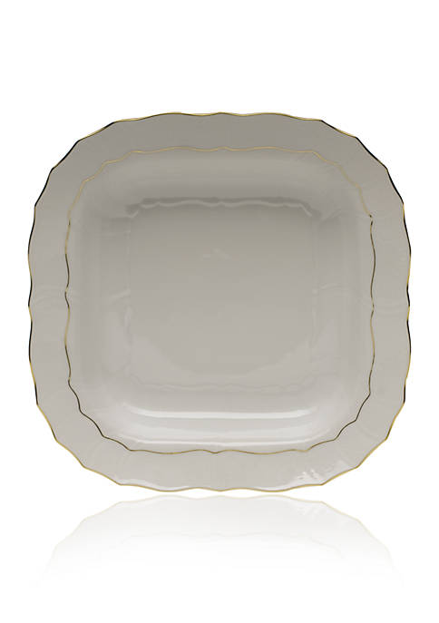 Herend Golden Edge Square Fruit Dish