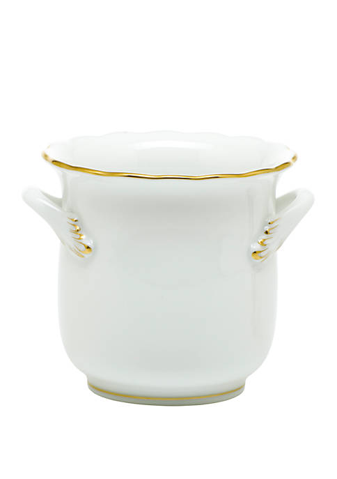Herend Golden Edge Mini Cachepot with Handles