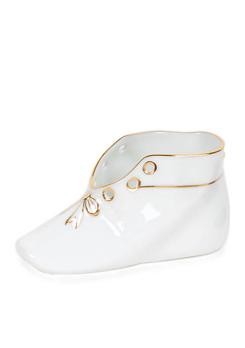Herend Baby Shoe with Gold Edge