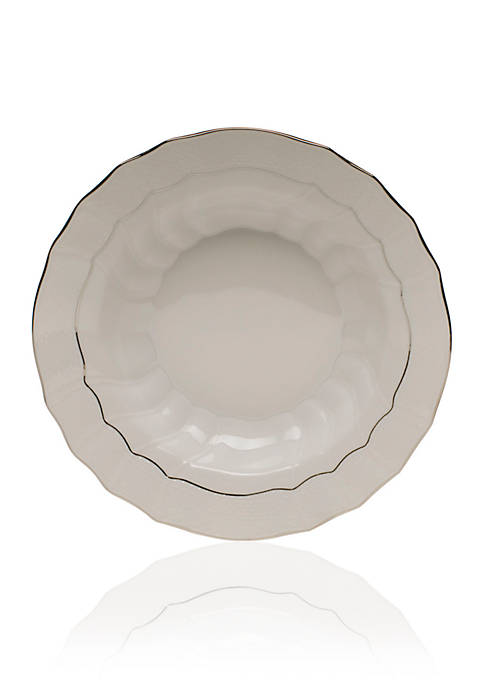 Herend Platinum Edge Rim Soup Bowl 9.5-in. D.
