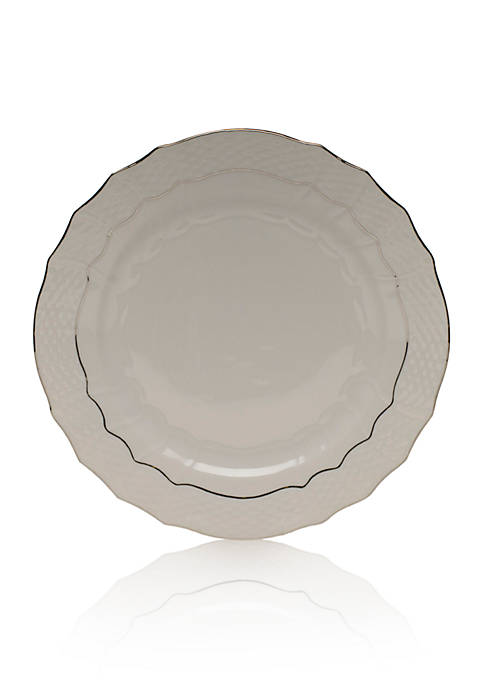 Herend Platinum Edge Service Plate 11-in. D.