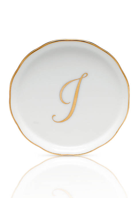 Herend Coaster w/ Gold Monogram
