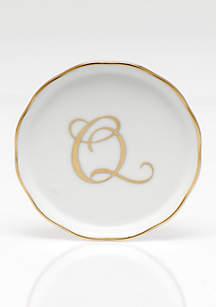 Coaster w/ Gold Monogram
