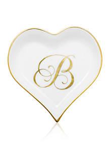 Heart Tray w/ Gold Monogram B