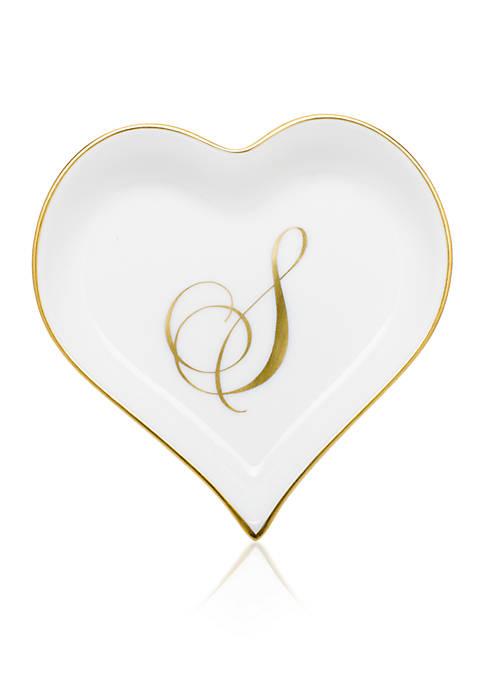 Heart Tray w/Monogram S
