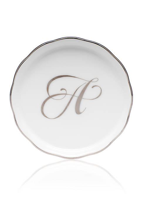 Golden Edge Platinum A Monogram Coaster