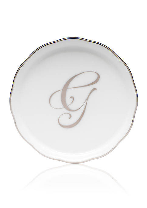 Golden Edge Platinum G Monogram Coaster