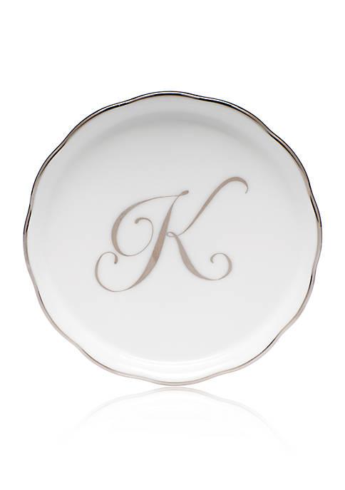 Golden Edge Platinum K Monogram Coaster