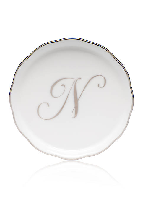 Golden Edge Platinum N Monogram Coaster