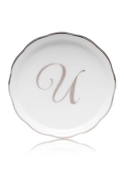 Golden Edge Platinum U Monogram Coaster