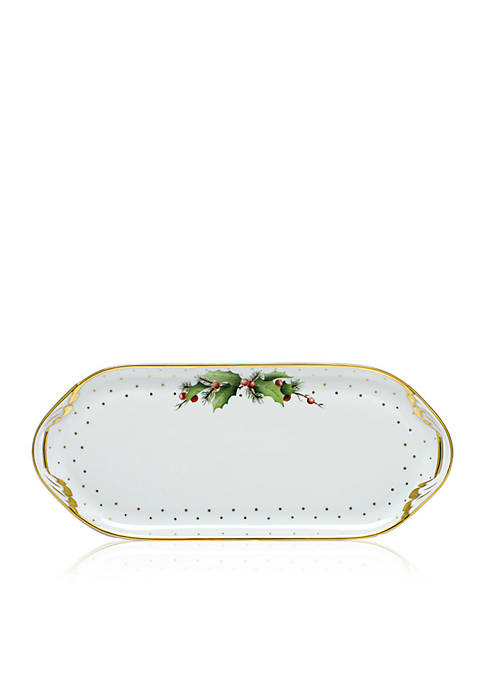 Herend Winter Shimmer Sandwich Tray