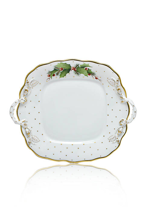 Herend Winter Shimmer Square Cake Plate