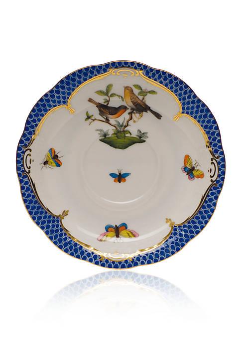 Rothschild Bird Blue Border Tea Saucer - Motif #9